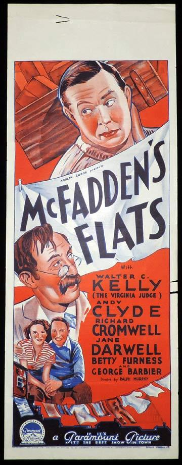 MCFADDEN'S FLATS Long Daybill Movie poster 1935 Richardson Studio