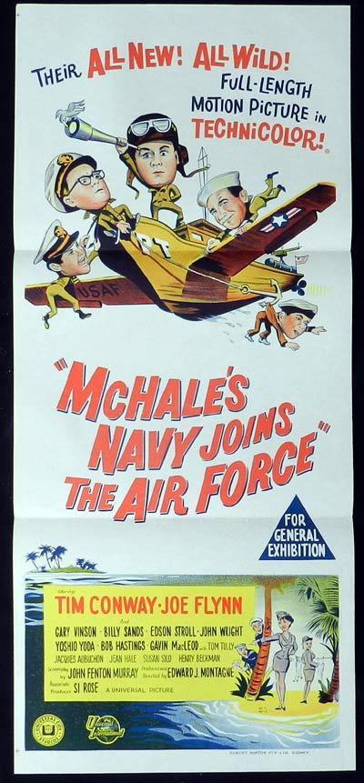 MCHALES NAVY JOINS THE AIR FORCE Original Daybill Movie poster Joe Flynn Tim Conway