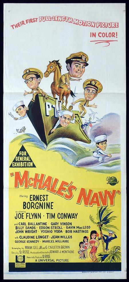 MCHALES NAVY Original daybill Movie Poster Ernest Borgnine Tim Conway