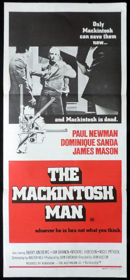 THE MACKINTOSH MAN Original Daybill Movie Poster Paul Newman James Mason