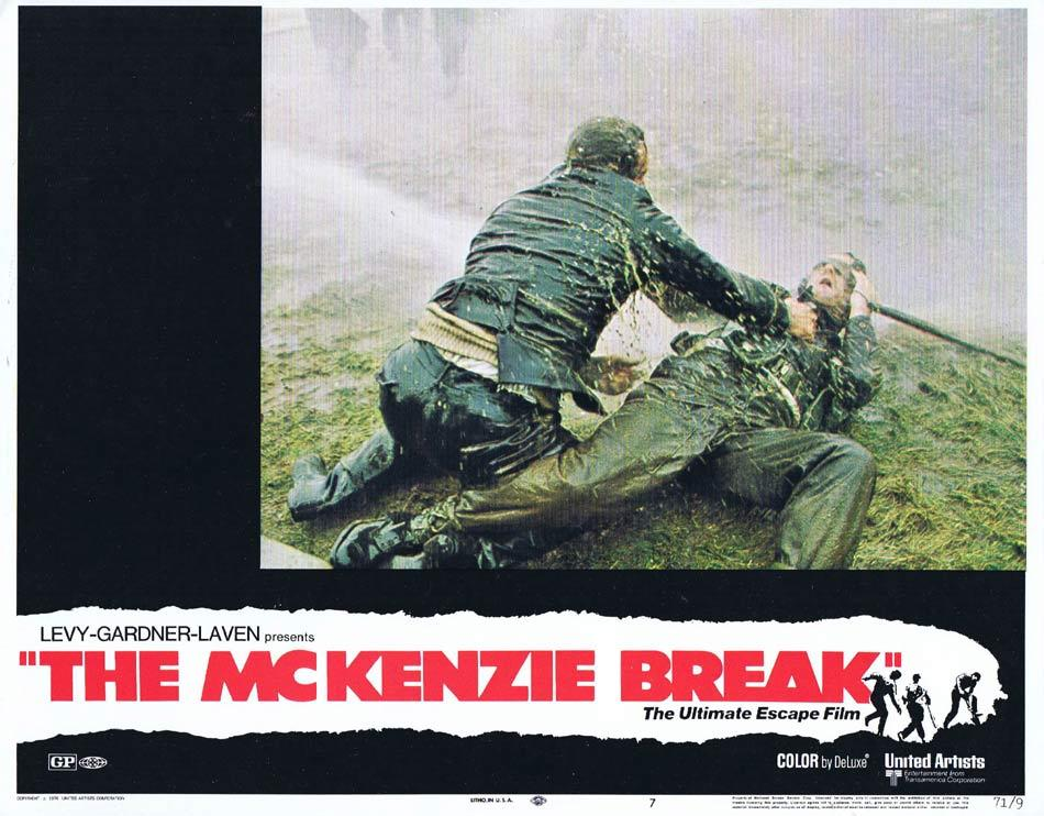 THE MCKENZIE BREAK Lobby Card 7 Brian Keith Helmut Griem Ian Hendry