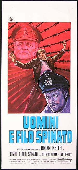 THE McKENZIE BREAK Original Locandina Movie Poster Brian Keith ITALIAN Mauro Colizzi art poster