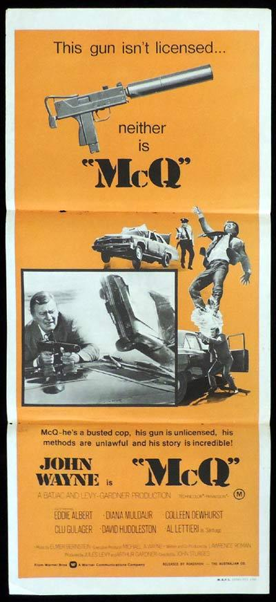 MCQ Original Daybill Movie Poster John Wayne