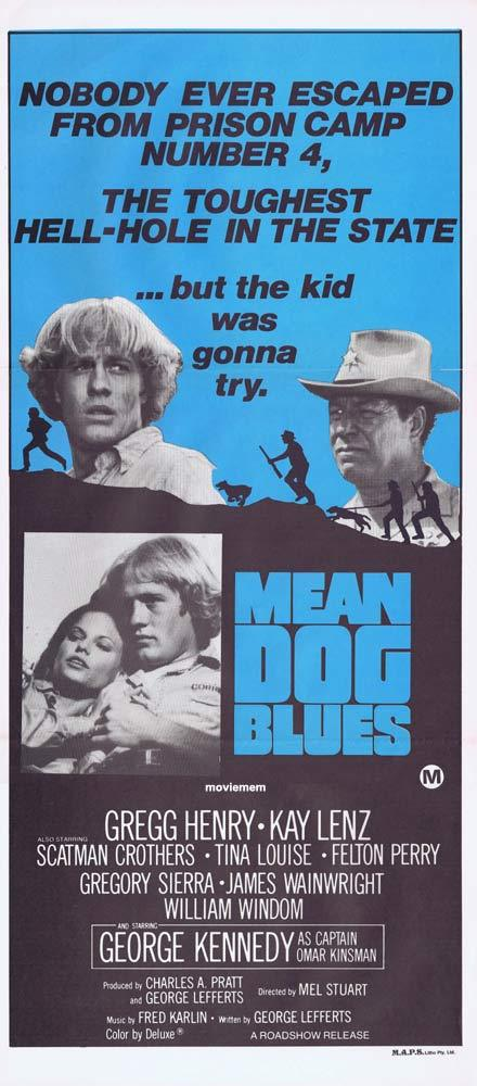 MEAN DOG BLUES Daybill Movie poster Gregg Henry PRISON BREAK