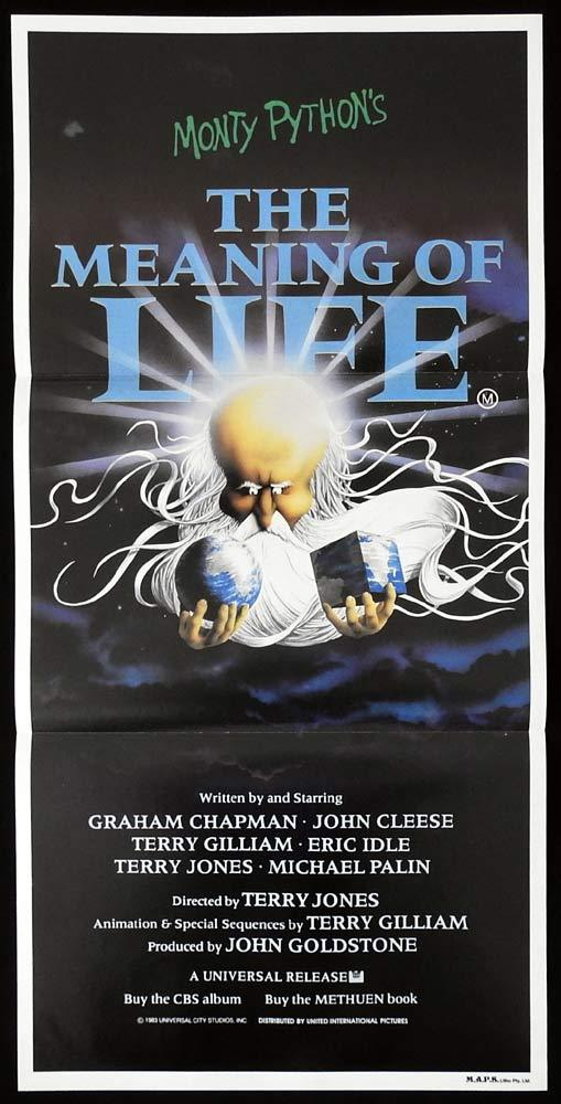 THE MEANING OF LIFE Daybill Movie Poster Monty Python