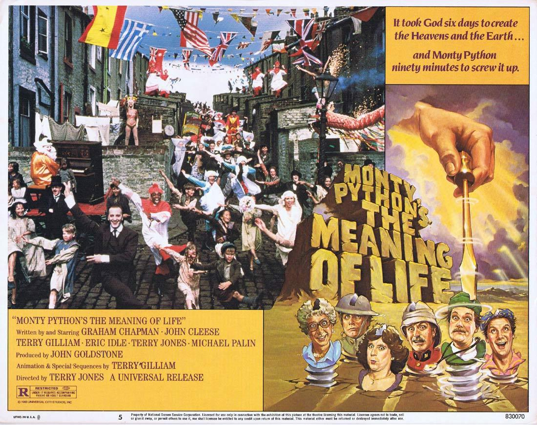 THE MEANING OF LIFE Movie Lobby Card 5 MONTY PYTHON Graham Chapman John Cleese