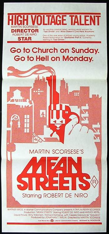 MEAN STREETS Daybill Movie poster Martin Scorcese
