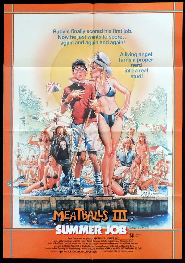 MEATBALLS III Summer Job One Sheet Movie Poster Patrick Dempsey