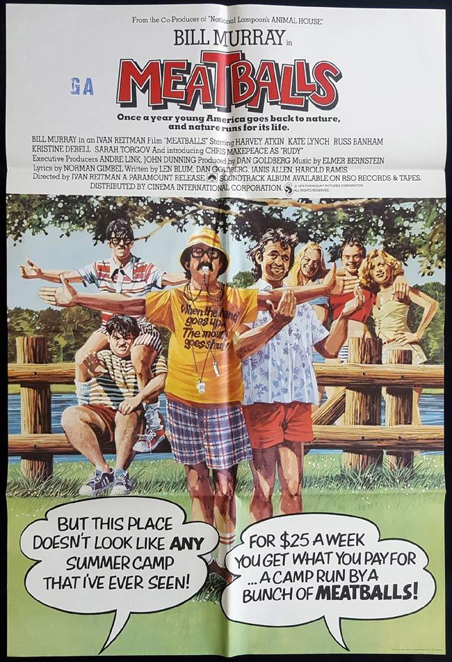 MEATBALLS British One Sheet Movie Poster Bill Murray