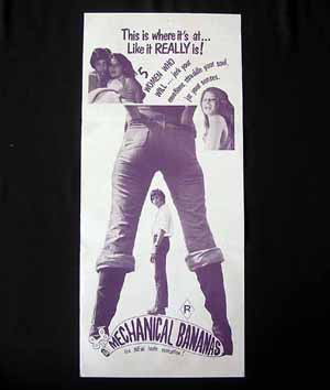 MECHANICAL BANANAS '72-Erotic Escape-SEX poster