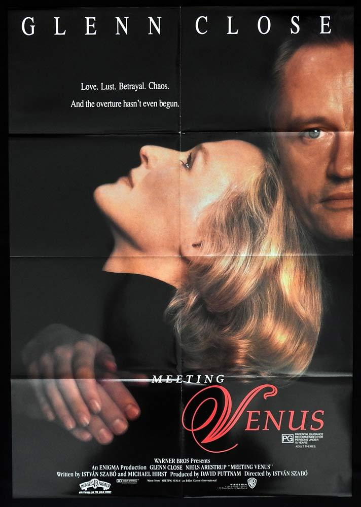 MEETING VENUS Original One sheet Movie Poster Glen Close Kiri Te Kanawa