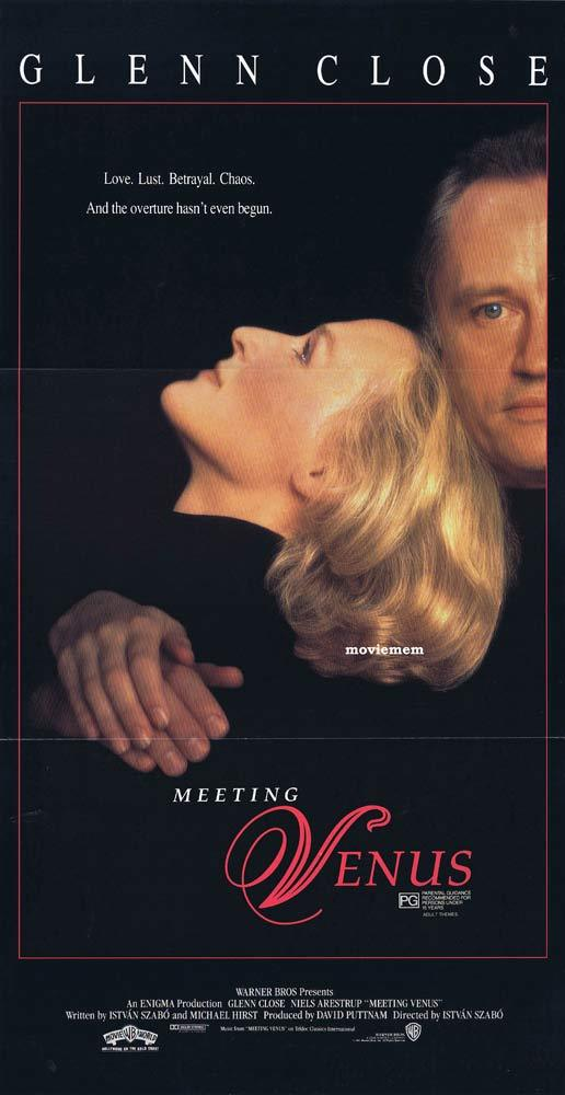 MEETING VENUS Original daybill Movie Poster Glen Close Kiri Te Kanawa