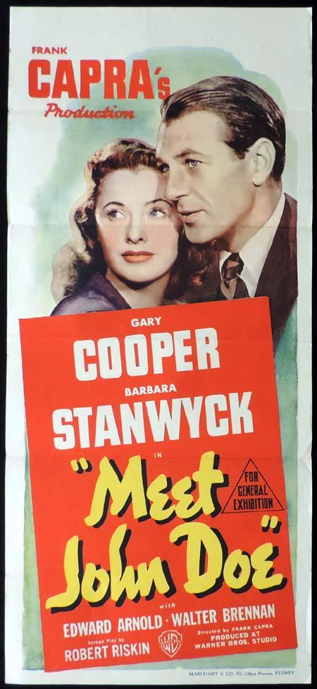MEET JOHN DOE Original Daybill Movie Poster Gary Cooper Marchant Graphics