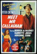 MEET MR CALLAGHAN Original One sheet Movie Poster Derrick De Marney Slim Callaghan Peter Cheney