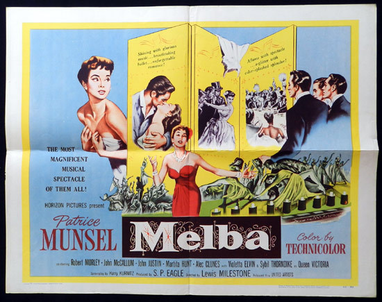 MELBA 1953 US Half Sheet Dame Nellie Melba Movie Poster B