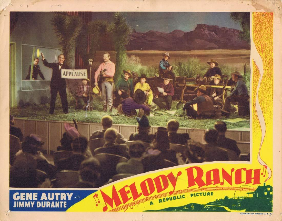 MELODY RANCH Original Lobby Card Gene Autry Jimmy Durante Ann Miller