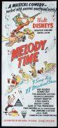 MELODY TIME Original daybill Movie Poster WALT DISNEY RKO Roy Rogers