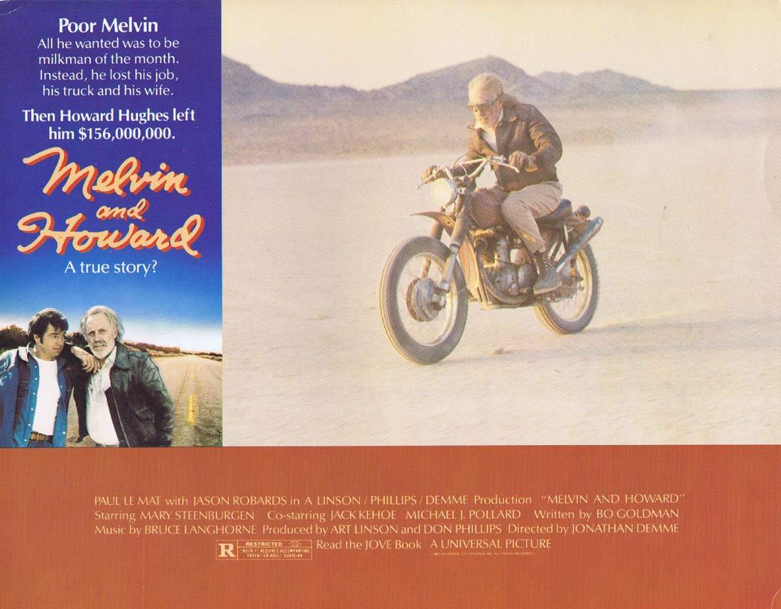 MELVIN AND HOWARD Vintage Movie Lobby Card Motor Cycle Biker