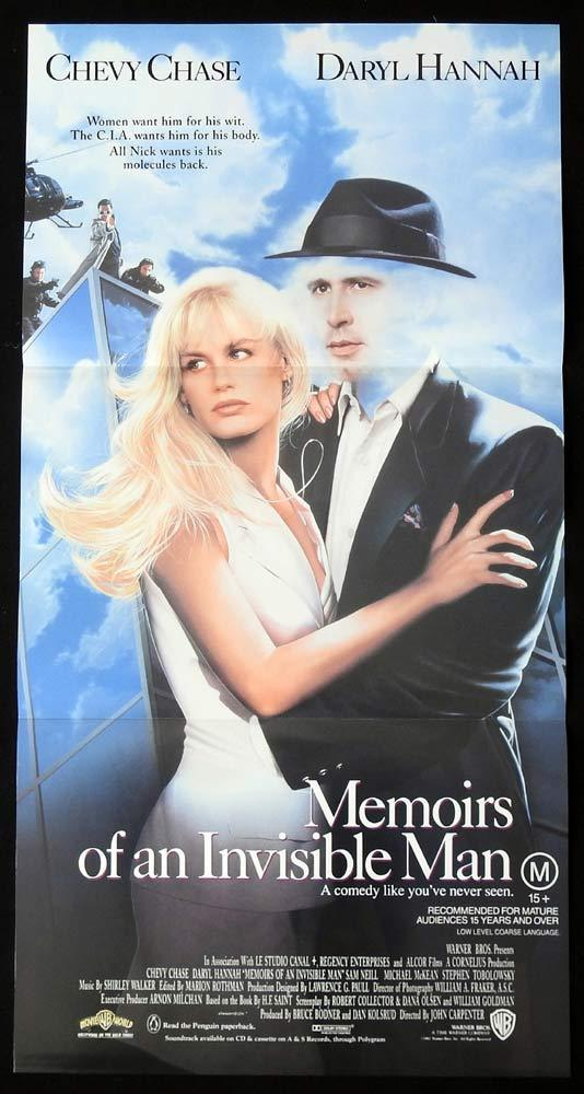 MEMOIRS OF AN INVISIBLE MAN Original Daybill Movie poster Chevy Chase Daryl Hannah