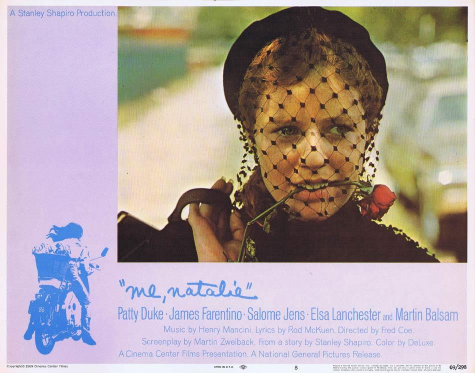 ME NATALIE Lobby Card 8 Patty Duke James Farentino Salome Jens
