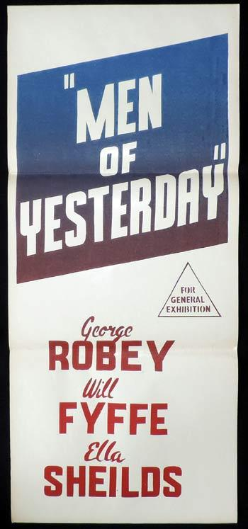 MEN OF YESTERDAY Original Daybill Movie poster George Robey