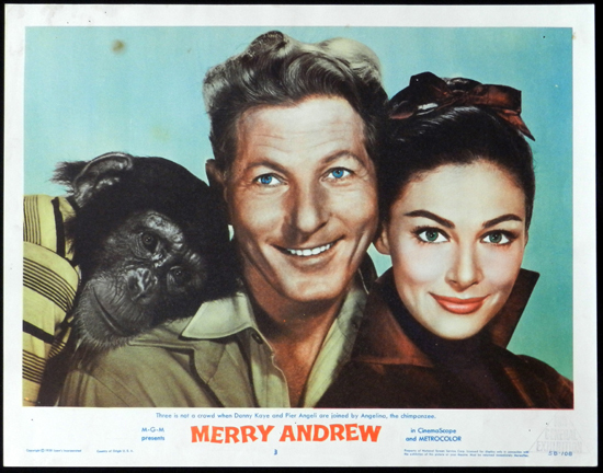 MERRY ANDREW 1958 Danny Kaye CIRCUS Lobby Card 3