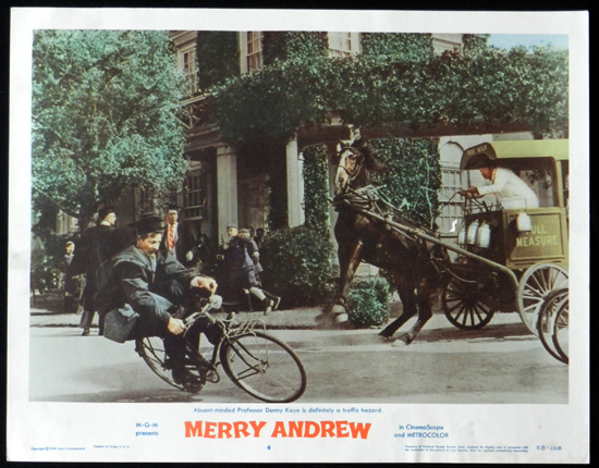 MERRY ANDREW 1958 Danny Kaye CIRCUS Lobby Card 4