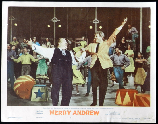 MERRY ANDREW 1958 Danny Kaye CIRCUS Lobby Card 5