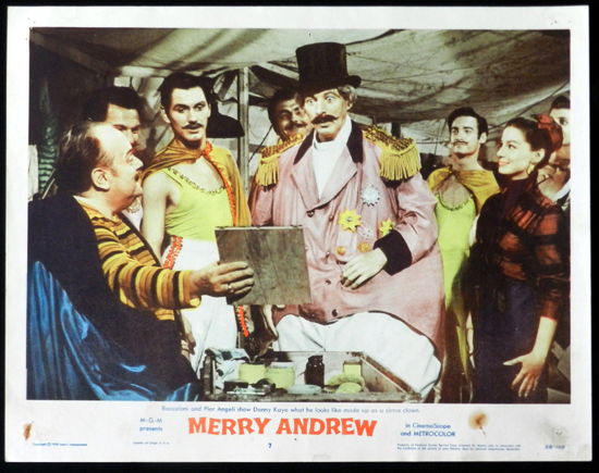 MERRY ANDREW 1958 Danny Kaye CIRCUS Lobby Card 7