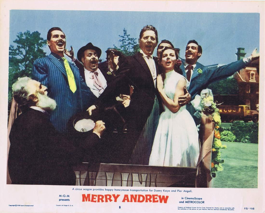 MERRY ANDREW Original Lobby Card 8 Danny Kaye Pier Angeli