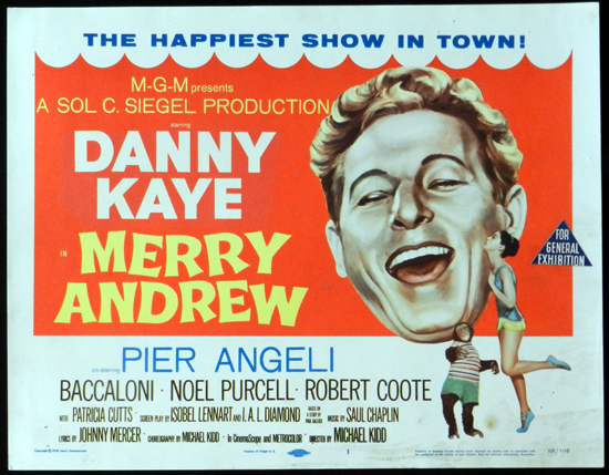 MERRY ANDREW 1958 Danny Kaye CIRCUS Title Lobby Card