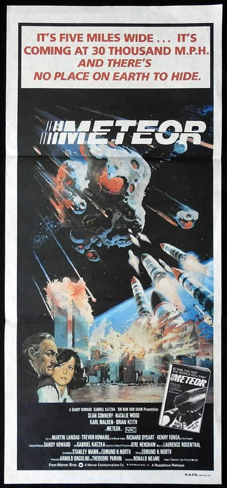 METEOR Original Daybill Movie Poster Natalie Wood Sean Connery
