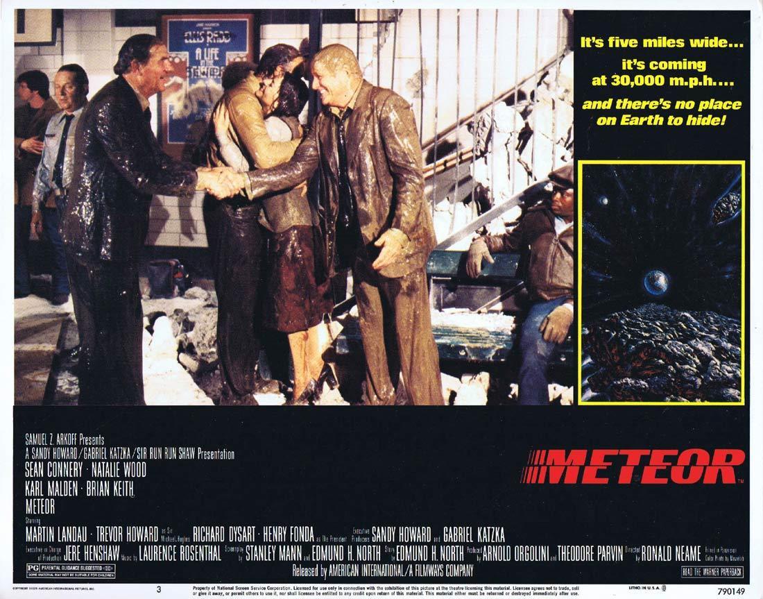METEOR Lobby card 3 Sean Connery Natalie Wood
