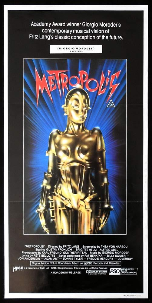 METROPOLIS 1984r Original Daybill Movie poster Fritz Lang