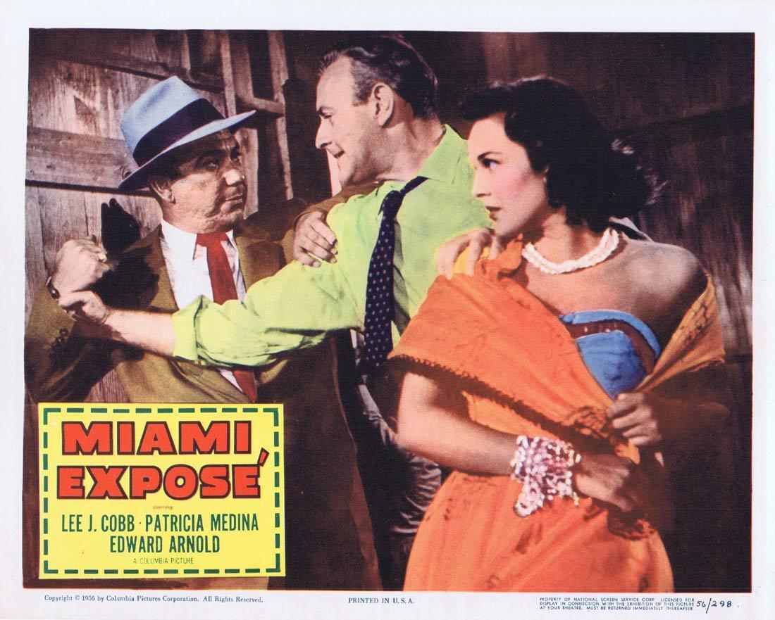 MIAMI EXPOSE Vintage Lobby Card 5 Lee J. Cobb Patricia Medina Edward Arnold