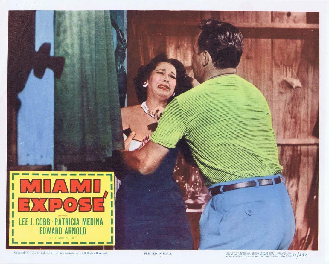 MIAMI EXPOSE Vintage Lobby Card 6 Lee J. Cobb Patricia Medina Edward Arnold
