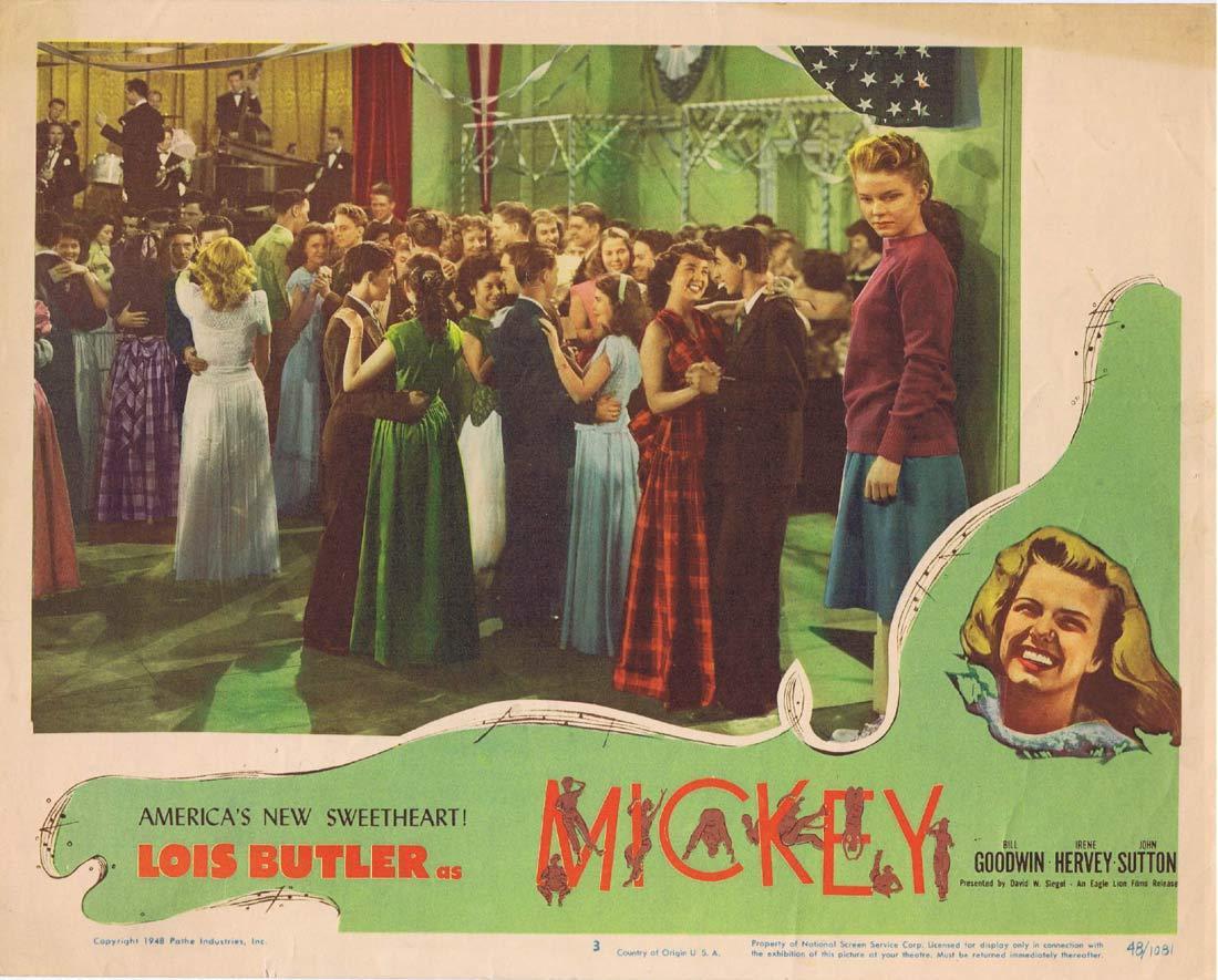 MICKEY Original Lobby Card 3 Lois Butler Bill Goodwin Irene Hervey