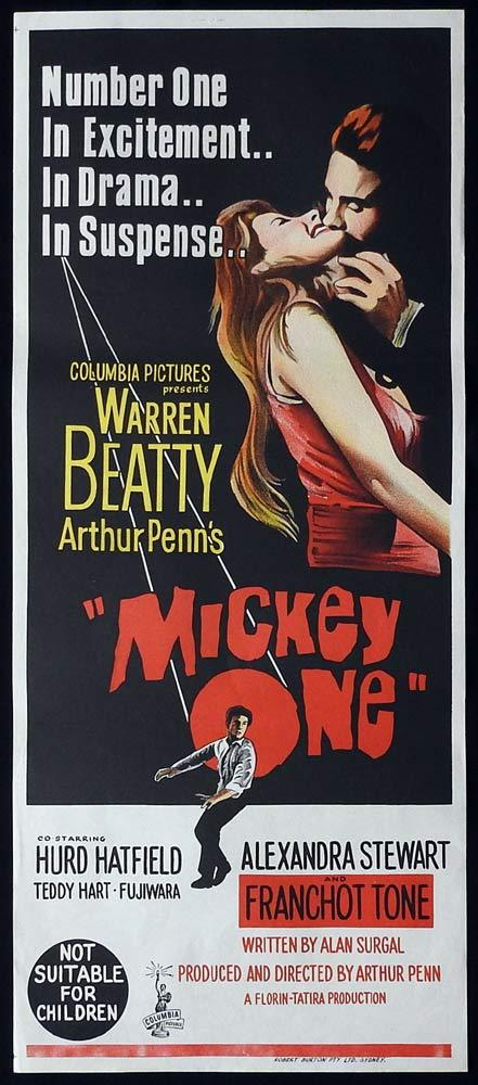 MICKEY ONE Original Daybill Movie Poster Warren Beatty Alexandra Stewart