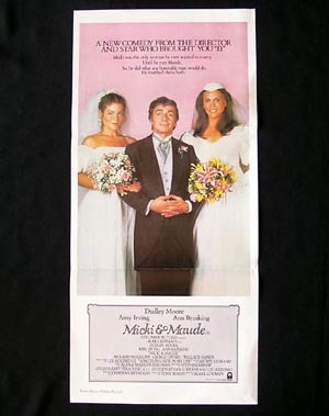 MICKI AND MAUDE '84-Dudley Moore-Blake Edwards daybill