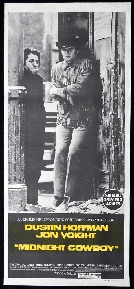 MIDNIGHT COWBOY Original Daybill Movie poster Jon Voight Dustin Hoffman