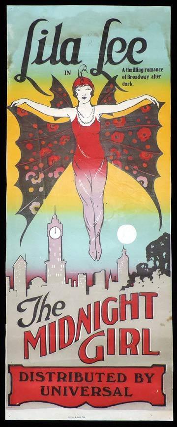 THE MIDNIGHT GIRL Long Daybill Movie poster 1925 Bela Lugosi Universal