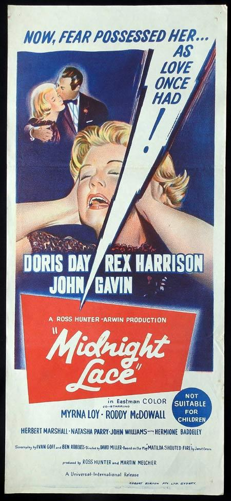 MIDNIGHT LACE Original daybill Movie Poster Doris Day Rex Harrison John Gavin