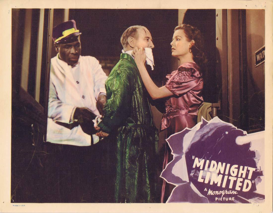 MIDNIGHT LIMITED Lobby Card 2 Phantom Train Robber 1940