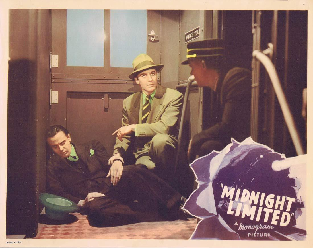 MIDNIGHT LIMITED Lobby Card 3 Phantom Train Robber 1940