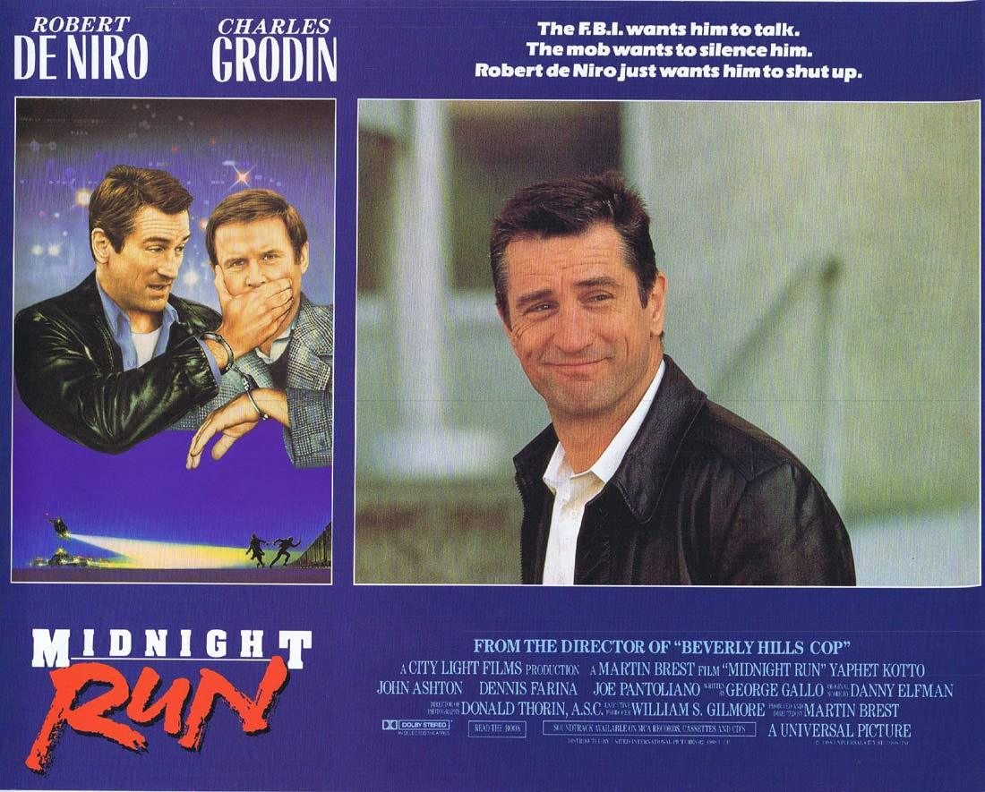 MIDNIGHT RUN Lobby card 1 Charles Grodin Robert DeNiro