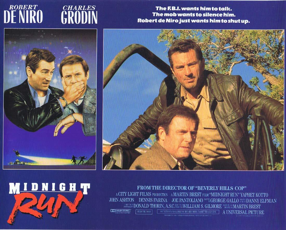 MIDNIGHT RUN Lobby card 2 Charles Grodin Robert DeNiro