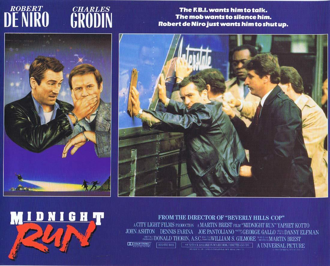 MIDNIGHT RUN Lobby card 3 Charles Grodin Robert DeNiro