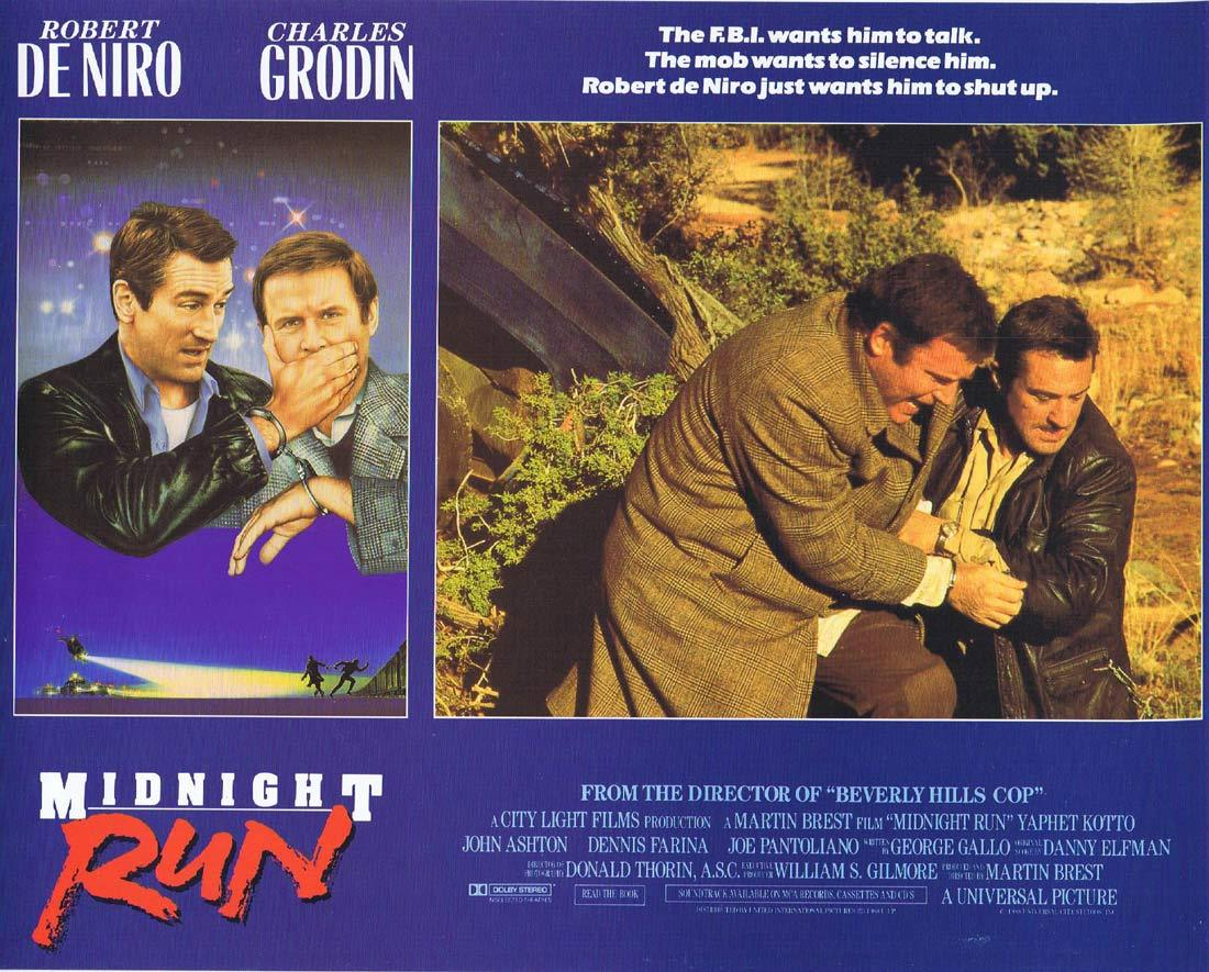 MIDNIGHT RUN Lobby card 4 Charles Grodin Robert DeNiro