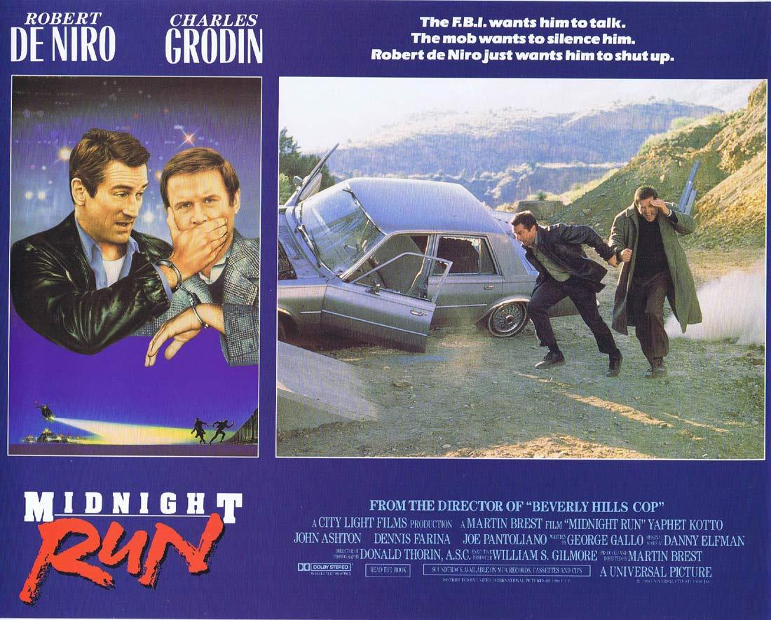 MIDNIGHT RUN Lobby card 5 Charles Grodin Robert DeNiro