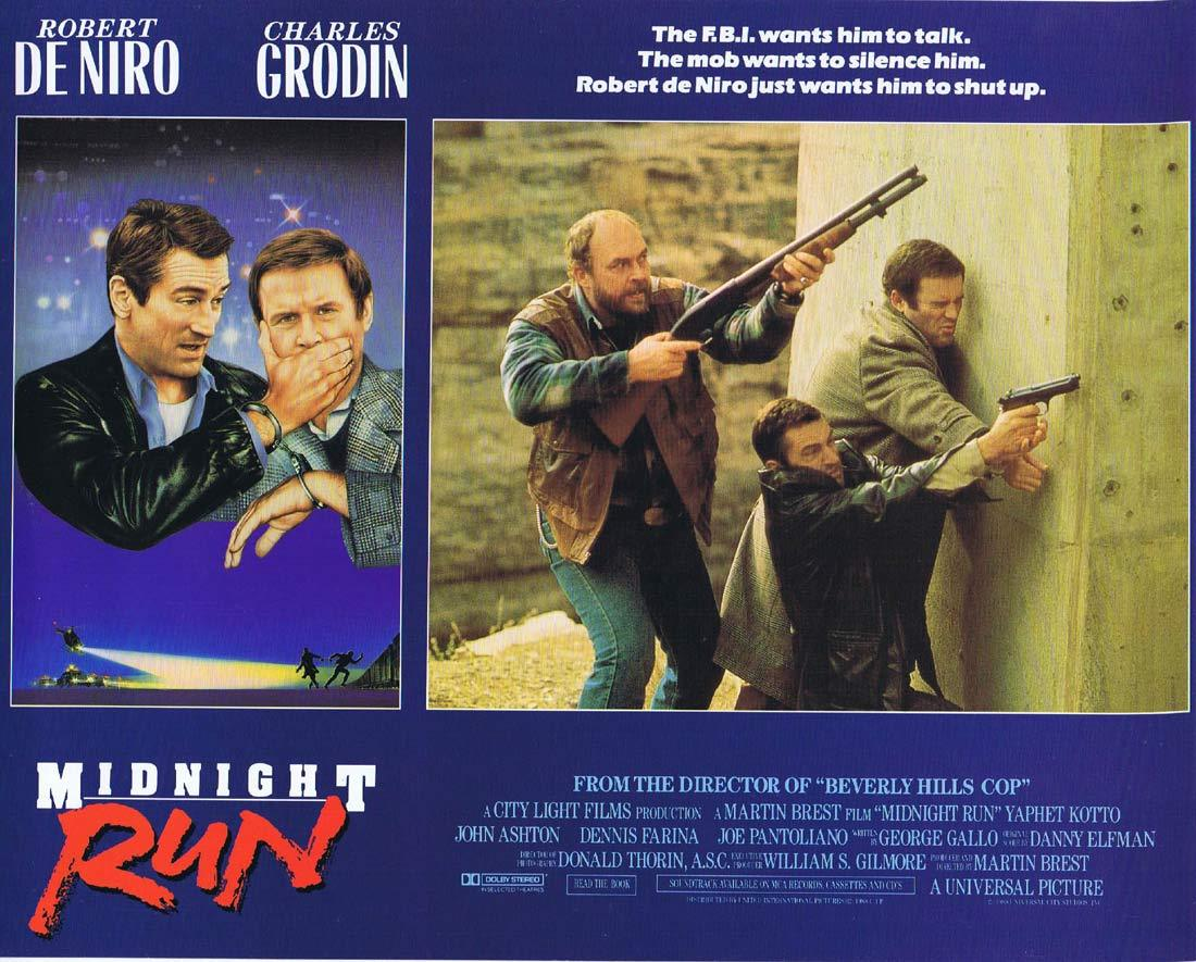 MIDNIGHT RUN Lobby card 6 Charles Grodin Robert DeNiro